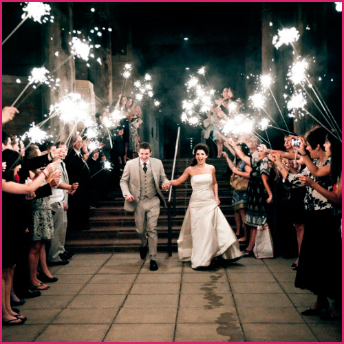 20 Inch Wedding Sparklers During a Sendoff Line