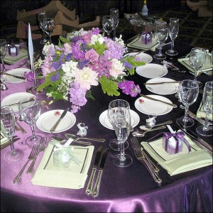 Reception Glassware and Dinnerware